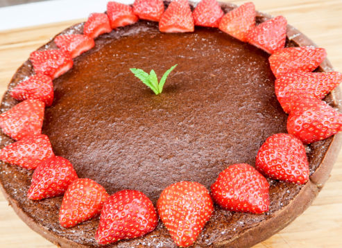 Double Delight cheesecake met aardbeien